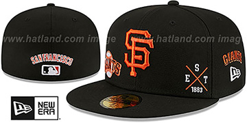 Giants MULTI-AROUND Black Fitted Hat by New Era