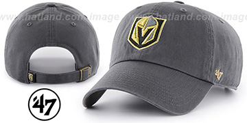 Golden Knights CLEAN-UP STRAPBACK Grey Hat by Twins 47 Brand