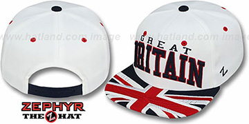 Great Britain 'SUPERSTAR SNAPBACK' White Hat by Zephyr
