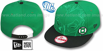 Green Lantern 'OVERFACE SNAPBACK' Green-Black Hat by New Era