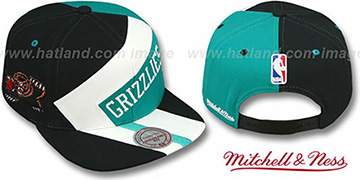 Grizzlies 1-ON-1 SNAPBACK Black-White-Teal Hat by Mitchell & Ness
