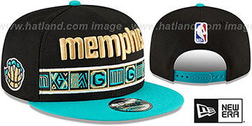 Grizzlies 20-21 'CITY-SERIES' SNAPBACK Black-Teal Hat by New Era