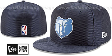 Grizzlies 2017 ONCOURT DRAFT Navy Fitted Hat by New Era