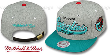 Grizzlies 2T TAILSWEEPER STRAPBACK Grey-Teal Hat by Mitchell & Ness