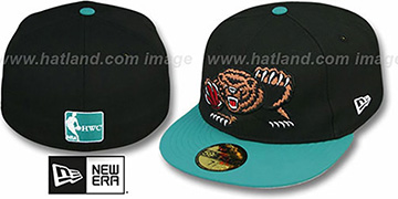 Grizzlies '2T TEAM-BASIC' Black-Teal Fitted Hat by New Era
