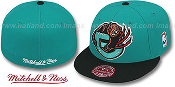Grizzlies 2T XL-LOGO Teal-Black Fitted Hat by Mitchell & Ness