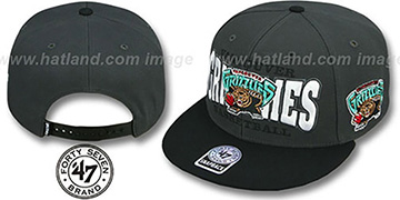 Grizzlies 'FIRST CLASS SNAPBACK' Grey-Black Hat by Twins 47 Brand