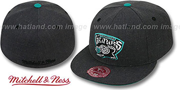 Grizzlies GREY HEDGEHOG Fitted Hat by Mitchell & Ness
