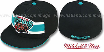 Grizzlies HARDWOOD TIMEOUT Black Fitted Hat by Mitchell & Ness