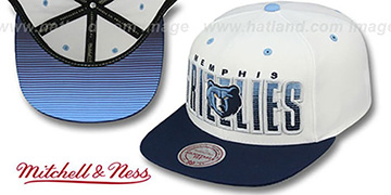 Grizzlies 'HOMESTAND SNAPBACK' White-Navy Hat by Mitchell & Ness