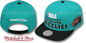 Grizzlies 'MEDIA-DAY SNAPBACK' Teal-Black Hat by Mitchell & Ness