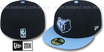 Grizzlies 'NBA-CHASE' Navy-Sky Fitted Hat by New Era