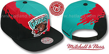 Grizzlies 'PAINTBRUSH SNAPBACK' Teal-Red-Black Hat by Mitchell & Ness