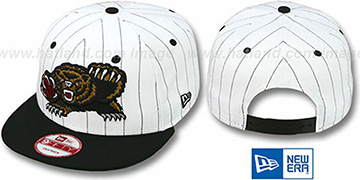 Grizzlies PINSTRIPE BITD SNAPBACK White-Black Hat by New Era