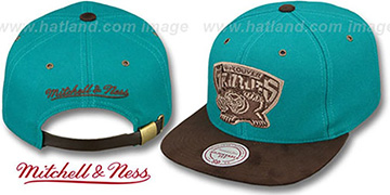 Grizzlies 'TC-BROWN SUEDE STRAPBACK' Hat Mitchell & Ness