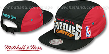 Grizzlies 'WORDMARK STRAPBACK' Black Hat by Mitchell & Ness