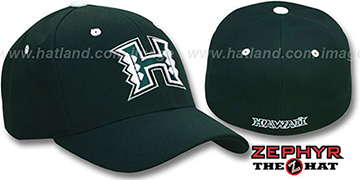 Hawaii 'DH' Green Fitted Hat by Zephyr