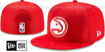 Hawks 2017 ONCOURT DRAFT Red Fitted Hat by New Era