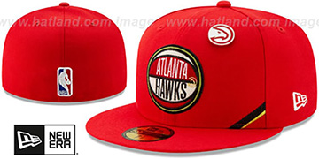 Hawks 2019 NBA DRAFT Red Fitted Hat by New Era