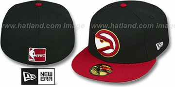 Hawks '2T TEAM-BASIC' Black-Red Fitted Hat by New Era