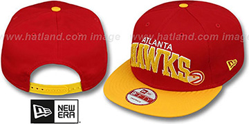 Hawks 'CHENILLE-ARCH SNAPBACK' Red-Gold Hat by New Era