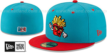 Hawks COPA Teal-Red Fitted Hat by New Era