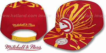Hawks 'EARTHQUAKE SNAPBACK' Red Hat by Mitchell & Ness