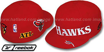 Hawks 'ELEMENTS' Fitted Hat by Reebok - red