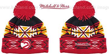 Hawks HWC GEOTECH Knit Beanie by Mitchell and Ness