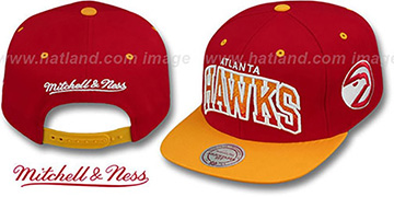 Hawks 'GRADIANT-ARCH SNAPBACK' Red-Gold Hat by Mitchell & Ness