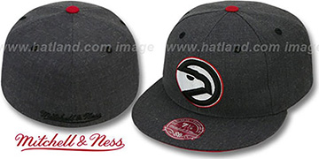 Hawks 'GREY HEDGEHOG' Fitted Hat by Mitchell & Ness