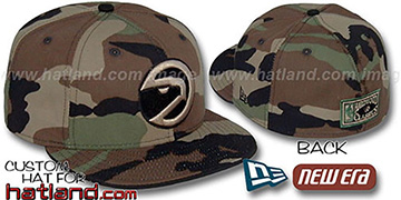 Hawks HARDWOOD 'ARMY CAMO' Fitted Hat by New Era