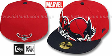 Hawks 'HERO-HCL' Red-Navy Fitted Hat by New Era