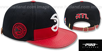 Hawks HORIZON STRAPBACK Black-Red Hat by Pro Standard