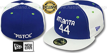 Hawks MARAVICH 'TEAM-UP' Royal-White Fitted Hat by New Era