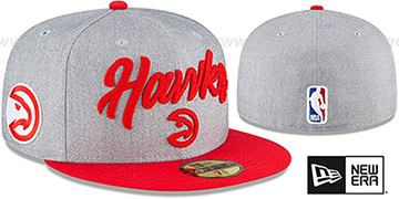 Hawks ROPE STITCH DRAFT Grey-Red Fitted Hat by New Era