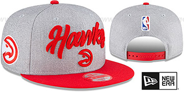 Hawks ROPE STITCH DRAFT SNAPBACK Grey-Red Hat by New Era