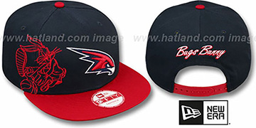 Hawks SIDE-TEAM BUGS BUNNY SNAPBACK Hat by New Era