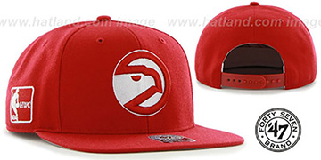 Hawks 'SURE-SHOT SNAPBACK' Red Hat by Twins 47 Brand