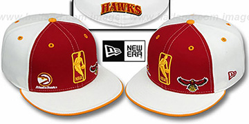Hawks 'TRIPLE THREAT' Red-White Fitted Hat by New Era