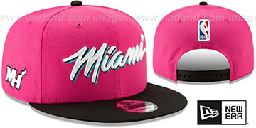 Heat 18-19 CITY-SERIES SNAPBACK Beetroot-Black Hat by New Era