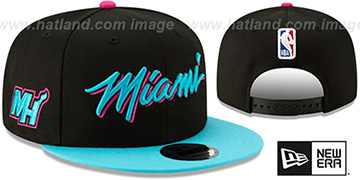 Heat 18-19 CITY-SERIES SNAPBACK Black-Blue Hat by New Era