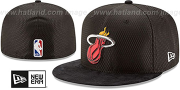 Heat 2017 ONCOURT DRAFT Black Fitted Hat by New Era