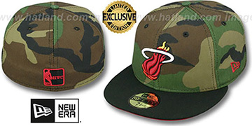 Heat 2T CAMO Army-Black Fitted Hat by New Era