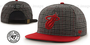 Heat 60-MINUTES STRAPBACK Red Hat by Twins 47 Brand