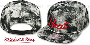Heat 'ACID-WASH SNAPBACK' Black Hat by Mitchell and Ness