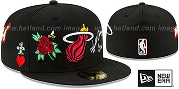 Heat CHAMPS-N-ROSES Black Fitted Hat by New Era