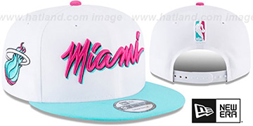 Heat 'CITY-SERIES SNAPBACK' White-Sea Foam Hat by New Era