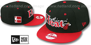 Heat 'CLASSIC-TAG SNAPBACK' Black-Red Adjustable Hat by New Era