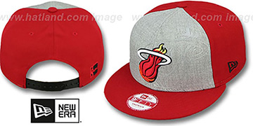 Heat HEATHER-REFLECT SNAPBACK Grey-Red Hat by New Era